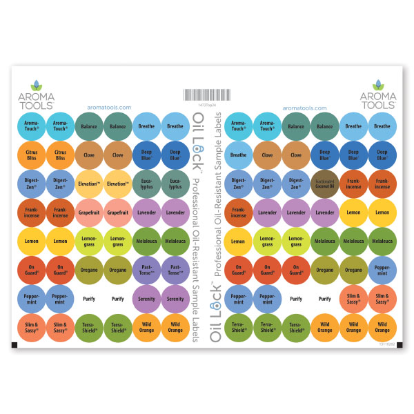 Preprinted Circle Labels