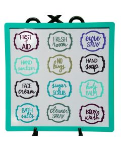 Assorted Vinyl Labels for Personal and Household Care