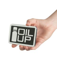 """Rectangle """"Oil Up"""" Car Decal (4"""" x 2⅔"""")"""
