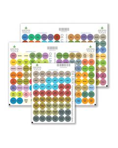 Oil Lock Circle Labels for Sample Vials of All doTERRA Oils and Blends, Sept. 2021 (Sheet of 240)