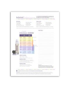 """Rollerball """"Babies & Mamas"""" Recipe Sheets (Pack of 25)"""