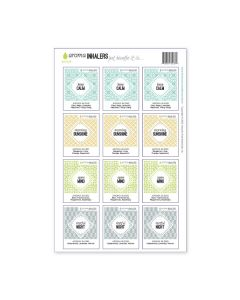 """Aroma Inhalers"" Waterproof Label Sets (Sheets of 12)"