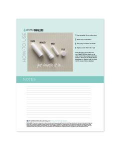 """Aroma Inhalers"" Recipe Sheets (Pack of 25)"