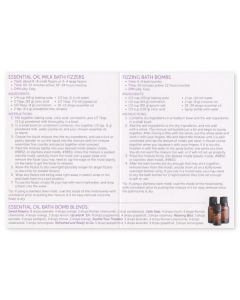 Essential Oil Bath Bomb Recipes Cards (Pack of 10)