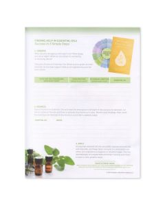 """""""Finding Solutions for Everyday Problems: Answers in Aromatherapy"""" Tear Pad (50 Sheets)"""