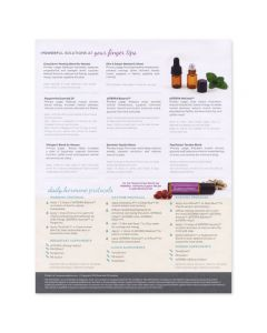 """Dr. Mariza Snyder's """"Balance Your Hormones with Essential Oils"""" Tear Pad (25 Sheets)"""