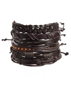 Leather Bracelet Set 2 (Pack of 6)