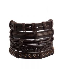 Leather Bracelet Set 3 (Pack of 5)