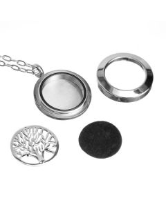 Interchangeable Design, Stainless Steel Locket, Diffusing Necklace