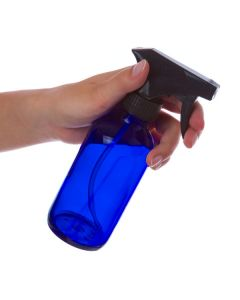 8 oz. Blue Glass Bottle with Black Trigger Sprayer
