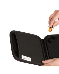 Small, Portable, Hard-shell Sample Case with Foam Insert (Holds 49 Vials)