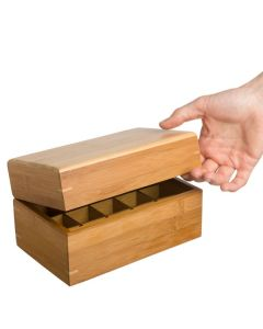 Mini Bamboo Essential Oils Box (Holds 15 Vials)
