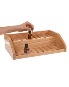 Oak Retail Display and Sample Rack (Holds 80 Vials)