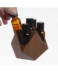 Wooden Geometric 15 ml Display Riser (Holds 5 Vials)