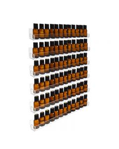 6-Row Plastic Essential Oil Display Rack (Holds 90 Vials)