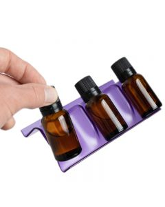 Purple 3-Row Plastic Essential Oil Tray (Holds 15 Vials)