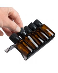 Smoky Gray 3-Row Plastic Essential Oil Tray (Holds 15 Vials)