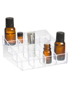 4-Tier Clear Plastic Display Riser (Holds 16 Vials)