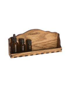 Natural Wood, Single-Shelf Display Rack (Holds 8 or 10 Vials)