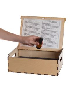 Large doTERRA Branded Natural Wood Essential Oil Box (Holds 63 Vials)