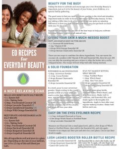 """""""Essential Oil Recipes for Everyday Beauty"""" Digital Tear Pad"""