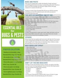 """""""Essential Oils for Bugs and Pests"""" Digital Tear Pad"""