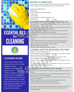 """""""Cleaning with Essential Oils"""" Digital Tear Pad"""