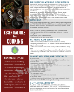 """""""Cooking with Essential Oils"""" Digital Tear Pad"""