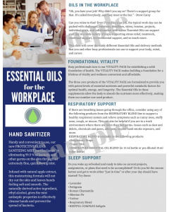 """""""Essential Oils for the Workplace"""" Digital Tear Pad"""