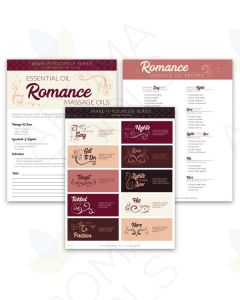 """Romance Massage Blends"" Make-It-Yourself Recipes and Label Set"