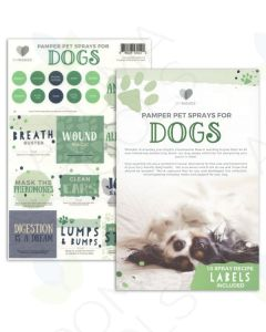 "My Makes ""Pet Sprays for Dogs"" Recipes and Label Set"
