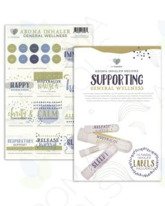 "My Makes ""Supporting General Wellness"" Inhaler Recipes and Label Set"