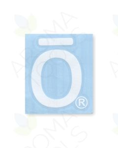 "White doTERRA ""O"" Vinyl Label"