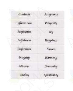 Positive Affirmation Reusable Vinyl Water Glass Labels (Sheet of 16)