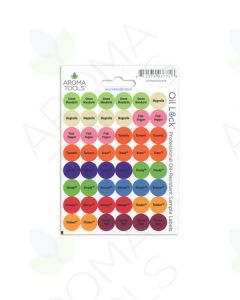 Oil Lock Circle Labels for 2018 Oils and Blends (Sheet of 48)