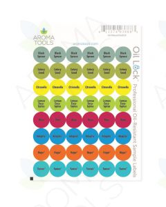 Oil Lock Circle Labels for 2019 Oils and Blends (Sheet of 48)