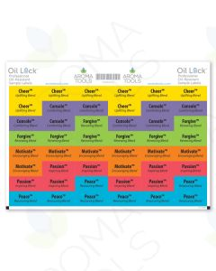 Oil Lock Sample Vial Rectangle Labels for doTERRA Emotions Oils (Set of 48)