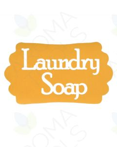 Laundry Soap Vinyl Label