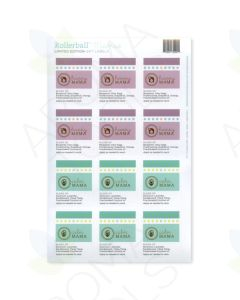 "Rollerball ""Mamas"" Happy and Calm Label Set (Sheet of 12)"