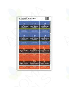 "Rollerball ""Teachers"" Happy and Calm Label Set (Sheet of 12)"