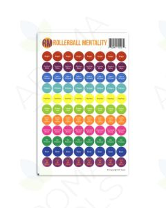 """""""Rollerball Mentality"""" Lid Stickers (Sheet of 88)"""