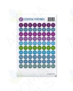 """""""Essential Perfumes"""" Lid Stickers (Sheet of 88)"""