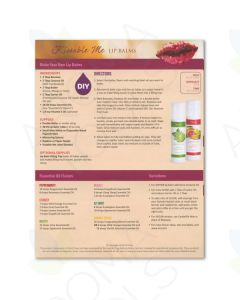 """Kissable Me Lip Balms"" Recipe Tear Pad (25 Sheets)"