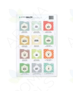 """Aroma Inhalers"" Assorted Waterproof Label Set (Sheet of 12)"