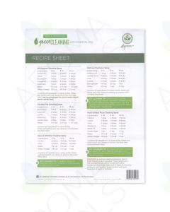 """Green Cleaning"" Recipe Sheets (Pack of 25)"