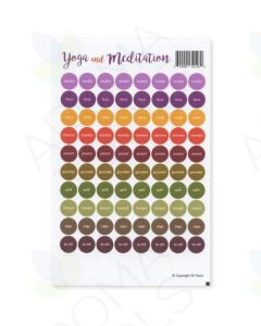"""""""Yoga and Meditation"""" Lid Stickers (Sheet of 88)"""