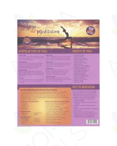 """Yoga and Meditation Using Essential Oils"" Recipe Tear Pad (25 Sheets)"