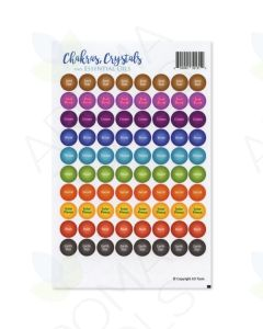 """""""Chakras, Crystals and Essential Oils"""" Lid Stickers (Sheet of 88)"""