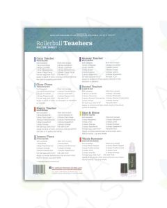 """Rollerball """"Teachers"""" Recipe Sheets (Pack of 25)"""