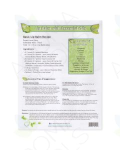 "Do-It-Yourself ""Lip Balm with Essential Oils"" Recipe Tear Pad (25 Sheets)"